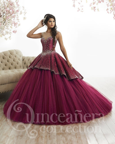 Illusion A-line Quinceanera Dress by House of Wu 26873-Quinceanera Dresses-ABC Fashion