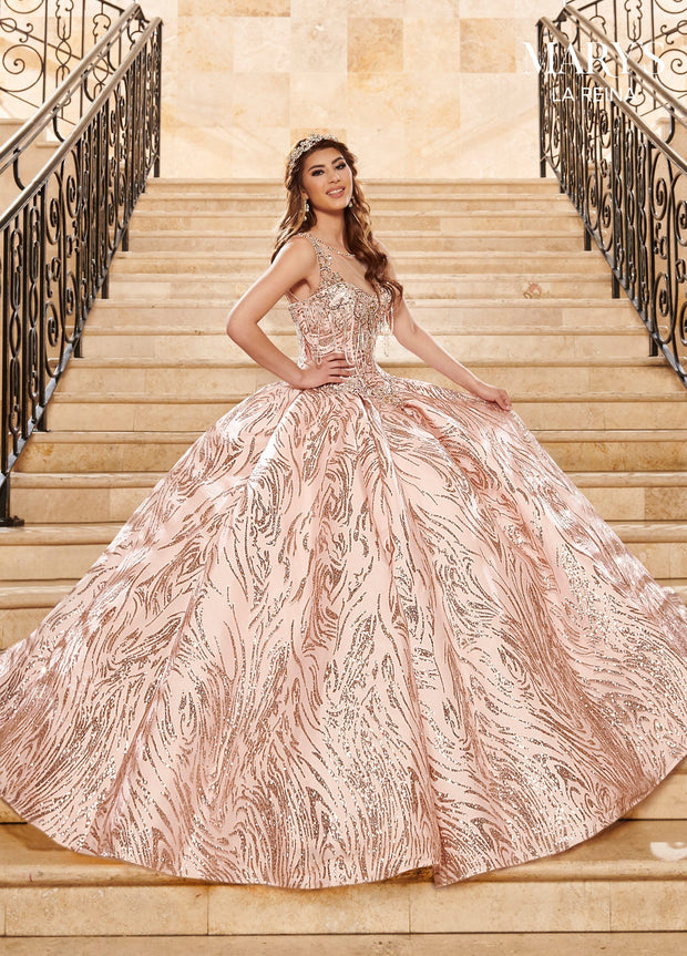 Illusion Glitter Quinceanera Dress by Mary's Bridal MQ2123