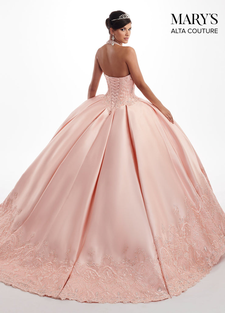Illusion Halter Quinceanera Dress by Alta Couture MQ3027-Quinceanera Dresses-ABC Fashion