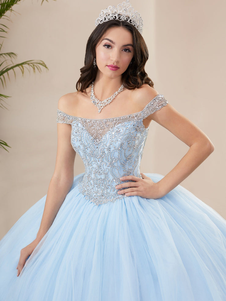 Illusion Off Shoulder Quinceanera Dress by Fiesta Gowns 56402