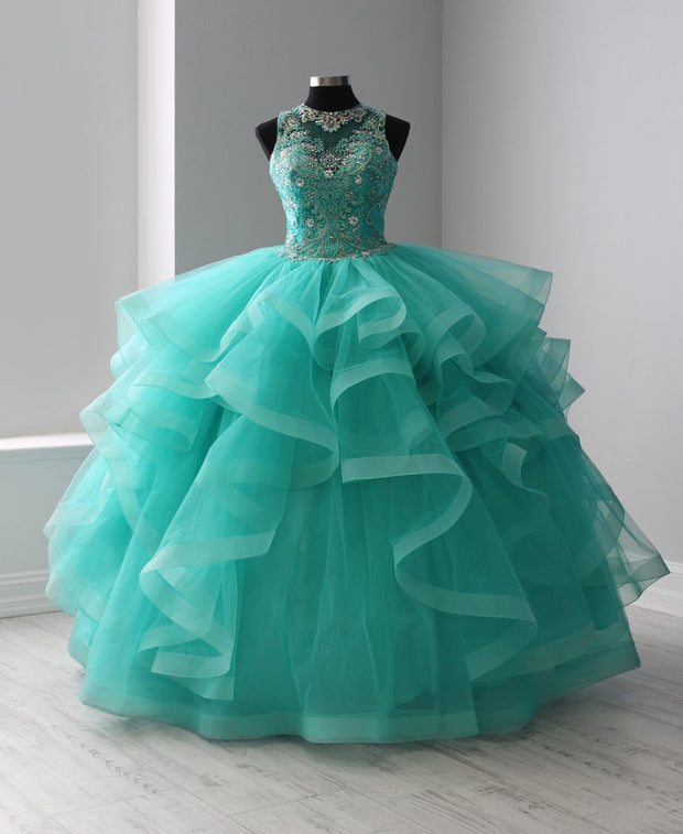 Illusion Ruffled Quinceanera Dress by Fiesta Gowns 56367-Quinceanera Dresses-ABC Fashion