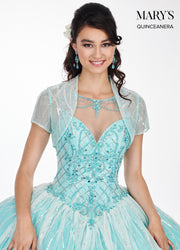 Illusion Sleeveless Sequin Quinceanera Dress by Mary's Bridal MQ2057-Quinceanera Dresses-ABC Fashion