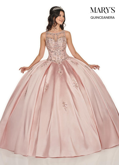 Illusion Sweetheart Quinceanera Dress by Mary's Bridal MQ2078-Quinceanera Dresses-ABC Fashion
