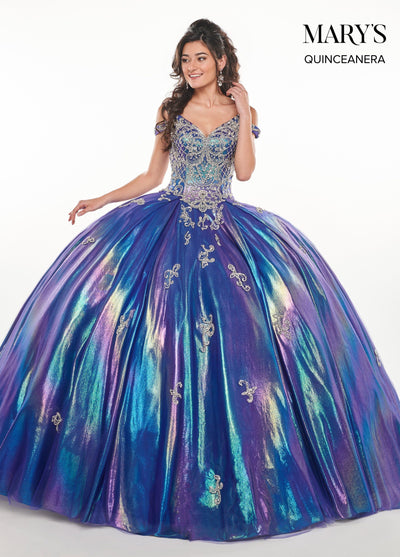 Iridescent Off Shoulder Quinceanera Dress by Mary's Bridal MQ2070-Quinceanera Dresses-ABC Fashion