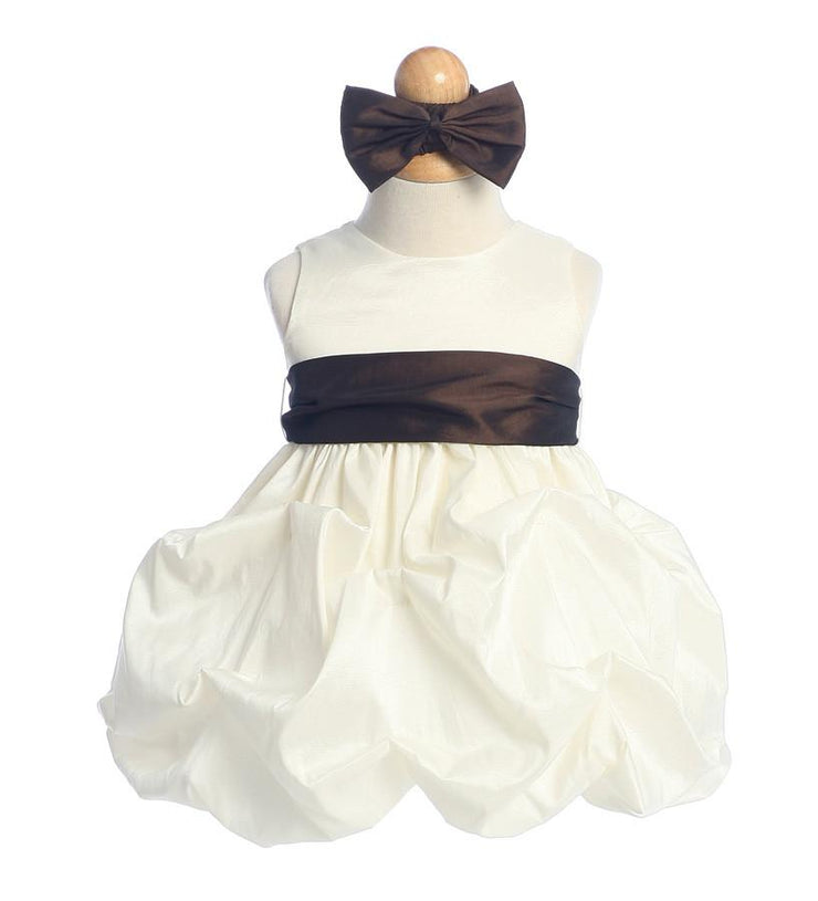 Ivory Baby Dresses with Sash and Flower-Girls Formal Dresses-ABC Fashion