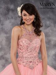 Jeweled Halter Quinceanera Dress by Mary's Bridal MQ1022-Quinceanera Dresses-ABC Fashion