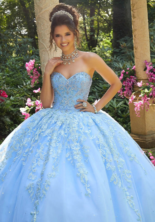 Jeweled Sweetheart Quinceanera Dress by Mori Lee Vizcaya 89264-Quinceanera Dresses-ABC Fashion