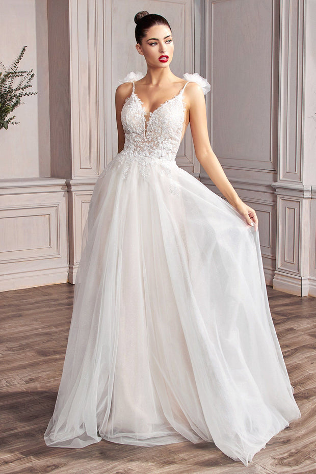 Lace A-line Bridal Gown by Cinderella Divine CD215W