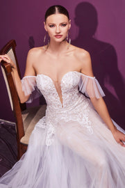 Lace Applique Bridal Gown by Cinderella Divine CD936W