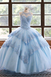 Lace Applique Illusion Quinceanera Dress by Calla KY75208X-Quinceanera Dresses-ABC Fashion