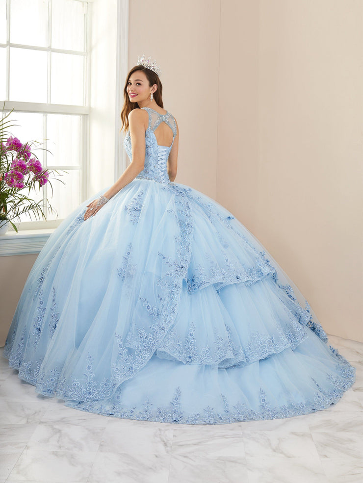 Lace Applique Illusion Quinceanera Dress by House of Wu 26959