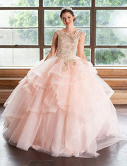 Lace Applique Layered Quinceanera Dress by Calla KY018376X-Quinceanera Dresses-ABC Fashion