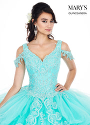 Lace Applique Off Shoulder Quinceanera Dress by Mary's Bridal MQ2051-Quinceanera Dresses-ABC Fashion