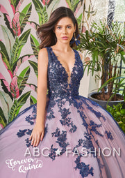 Lace Applique Sleeveless Quinceanera Dress by Forever Quince FQ787-Quinceanera Dresses-ABC Fashion