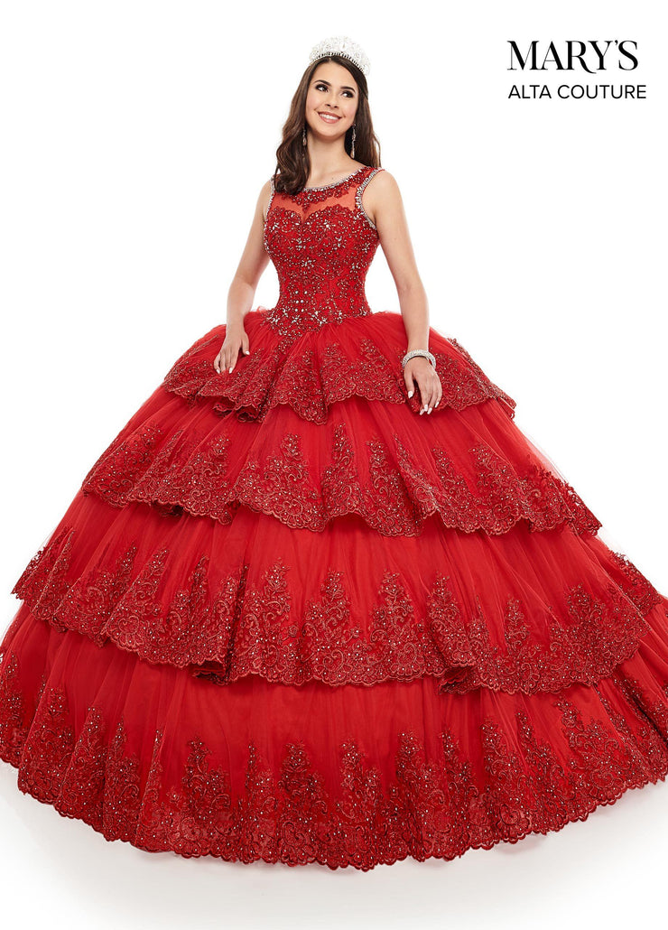 Lace Applique Tiered Quinceanera Dress by Alta Couture MQ3039-Quinceanera Dresses-ABC Fashion