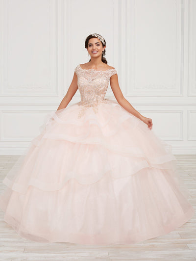 Lace Bodice Quinceanera Dress by Fiesta Gowns 56420 (Size 10 - 16)