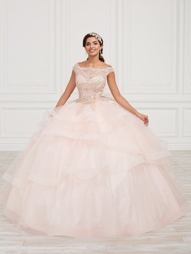 Lace Bodice Quinceanera Dress by Fiesta Gowns 56420 (Size 18 - 24)