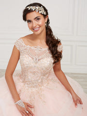Lace Bodice Quinceanera Dress by Fiesta Gowns 56420 (Size 26 - 30)