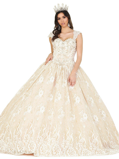 Lace Embellished Sweetheart Ball Gown by Dancing Queen 1408
