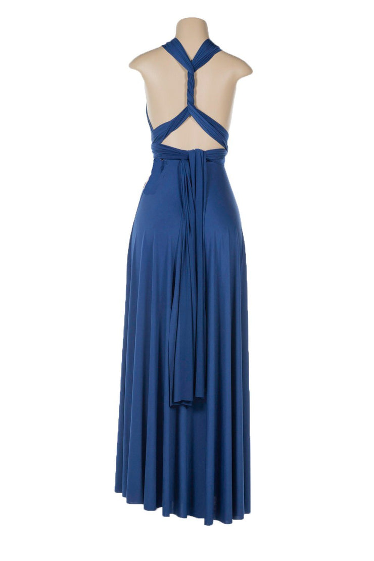 Lavender Long Convertible Jersey Dress by Poly USA-Long Formal Dresses-ABC Fashion