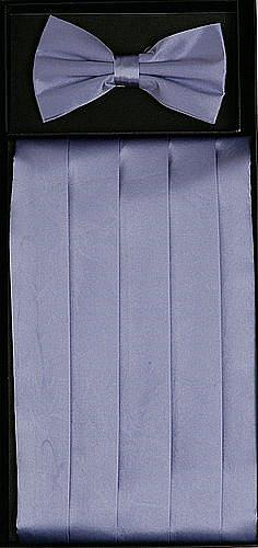 Lavender Silk Satin Cummerbund and Bow Tie Set-Men's Cummerbund-ABC Fashion