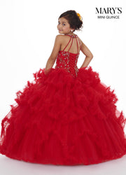 Layered Illusion Halter Quinceanera Dress by Mary's Bridal MQ2068-Quinceanera Dresses-ABC Fashion
