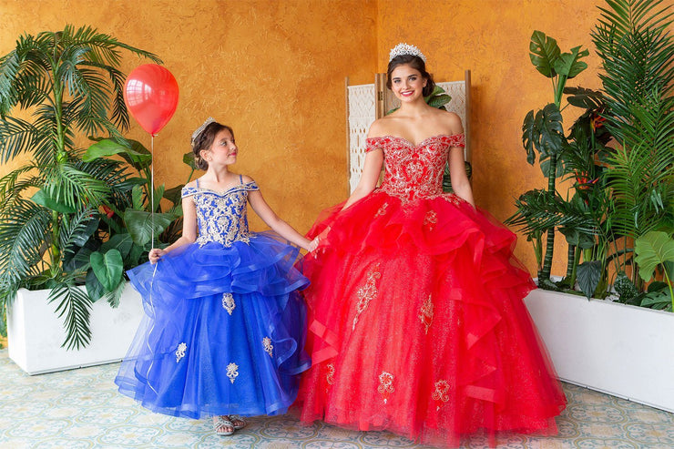 Layered Off Shoulder Glitter Quinceanera Dress by Calla KY018383X-Quinceanera Dresses-ABC Fashion