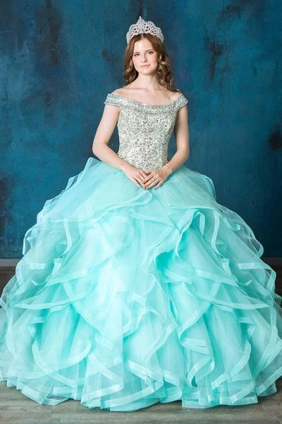 Layered Off Shoulder Quinceanera Dress by Calla SYL17037