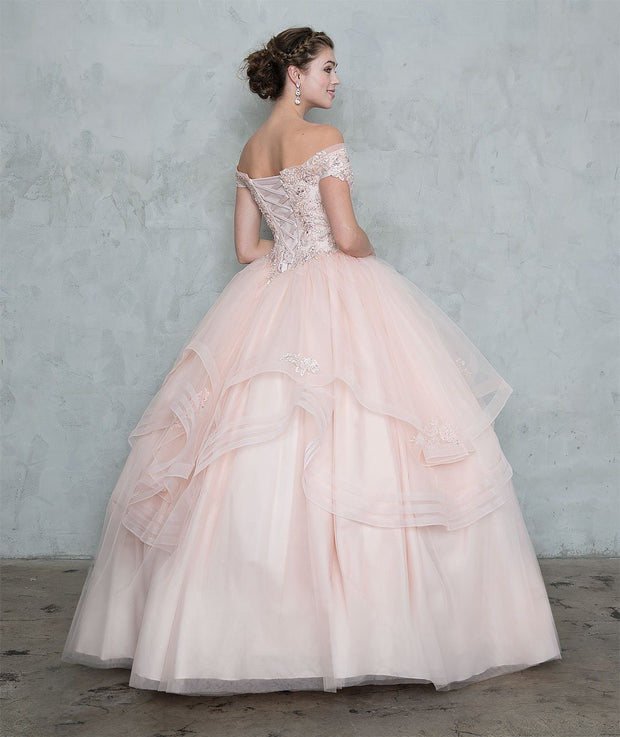Layered Off Shoulder Quinceanera Dress by Calla SYL17048