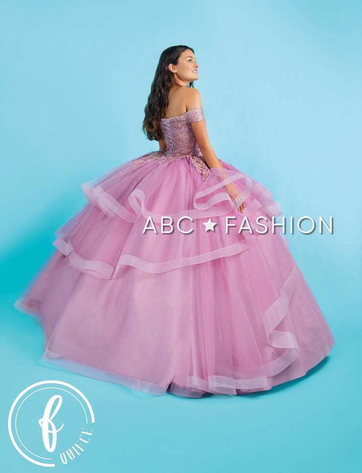 Layered Off Shoulder Quinceanera Dress by Forever Quince FQ822