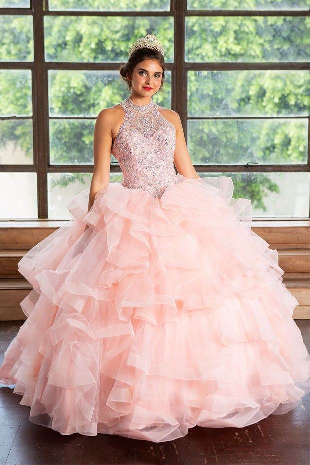 Layered Sleeveless Illusion Quinceanera Dress by Calla KY75178X-Quinceanera Dresses-ABC Fashion