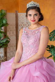 Layered Sleeveless Illusion Quinceanera Dress by Calla KY79288X-Quinceanera Dresses-ABC Fashion
