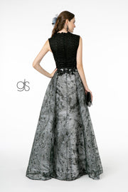 Long A-line Embroidered Lace Dress by Elizabeth K GL1836