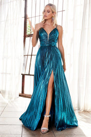 Long A-line Metallic Dress by Cinderella Divine CD161