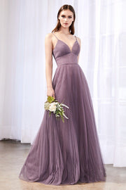 Long A-line Sweetheart Tulle Dress by Cinderella Divine CD184