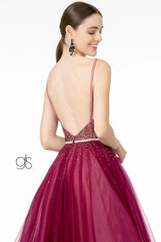 Long A-line Tulle Dress with Embellished Bodice by Elizabeth K GL2991
