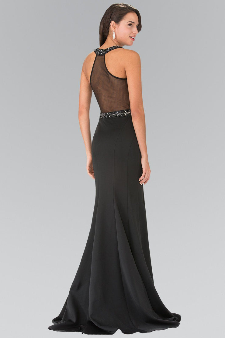 Long Beaded Dress with Sheer Back by Elizabeth K GL2303-Long Formal Dresses-ABC Fashion