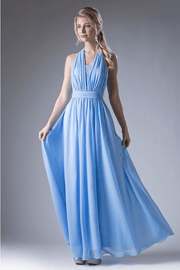 Long Convertible Chiffon Dress by Cinderella Divine CF055