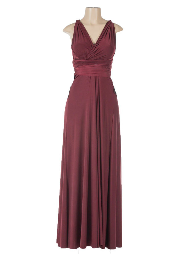 Long Convertible Jersey Dress by Poly USA-Long Formal Dresses-ABC Fashion