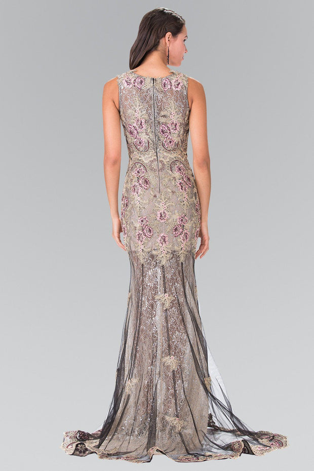 Long Floral Embroidered Lace Dress by Elizabeth K GL2269-Long Formal Dresses-ABC Fashion
