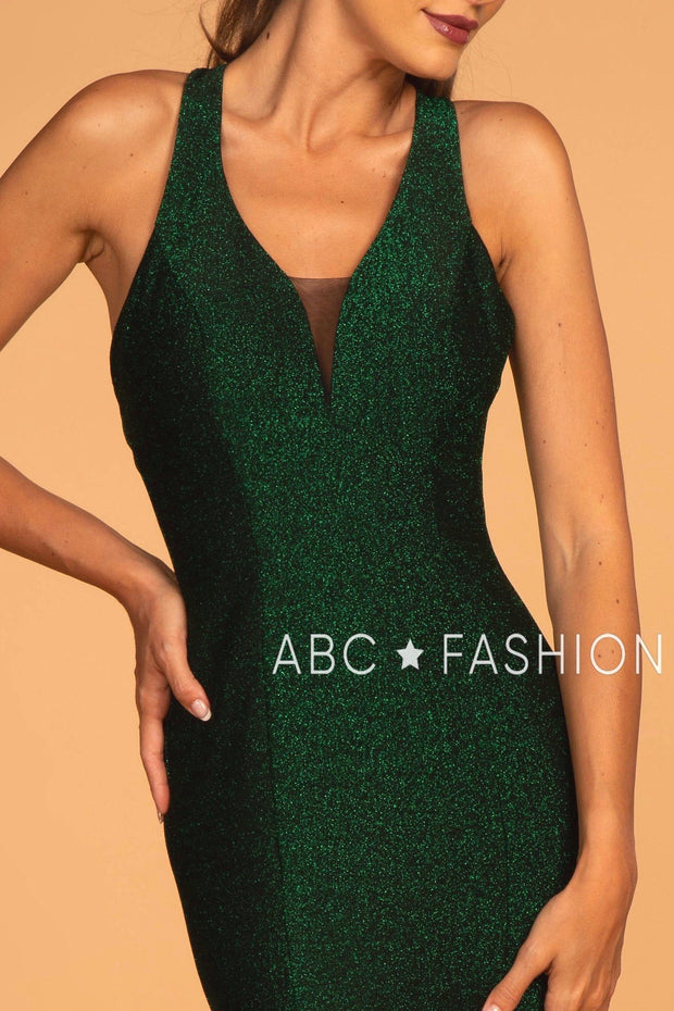 Long Glitter Mermaid Dress with Strappy Back by Elizabeth K GL2549-Long Formal Dresses-ABC Fashion