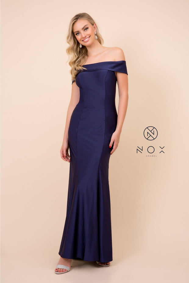 Long Off the Shoulder Mermaid Dress by Nox Anabel N295