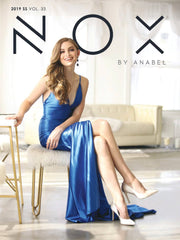 Long Open Back Satin V-Neck Dress with Side Slit by Nox Anabel C213-Long Formal Dresses-ABC Fashion