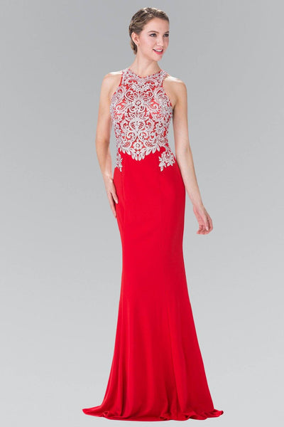 Long Red Embroidered Dress by Elizabeth K GL2236-Long Formal Dresses-ABC Fashion