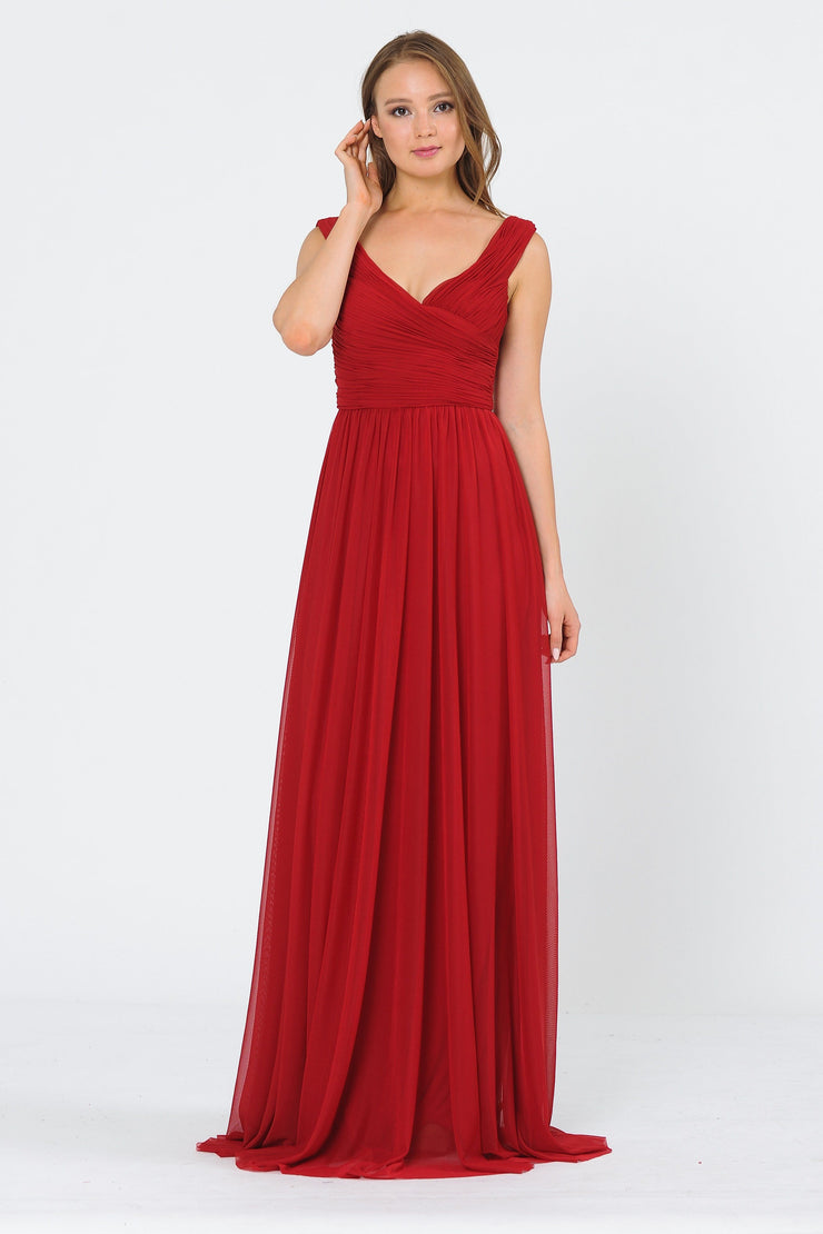 Long Ruched Off the Shoulder Dress by Poly USA 8398