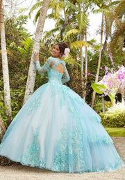 Long Sleeve Quinceanera Dress by Mori Lee Valentina 34034