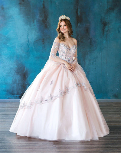 Long Sleeve Off Shoulder Quinceanera Dress by Calla SYL19021