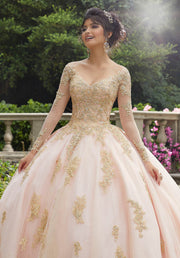 Long Sleeve Quinceanera Dress by Mori Lee Vizcaya 89272-Quinceanera Dresses-ABC Fashion