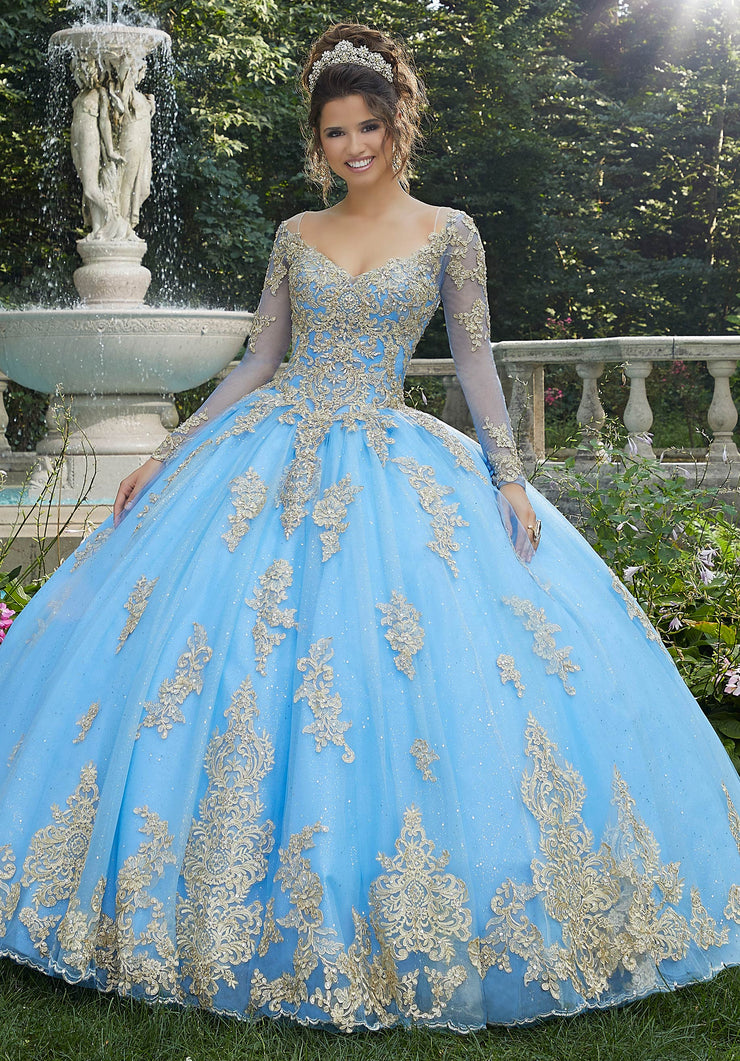 Long Sleeve Quinceanera Dress by Mori Lee Vizcaya 89272