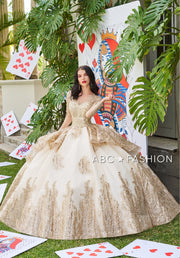 Long Sleeve Quinceanera Dress by Ragazza DV56-556